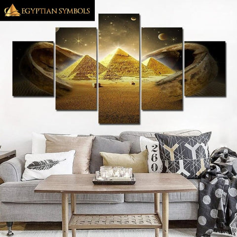 Egyptian painting Pyramid