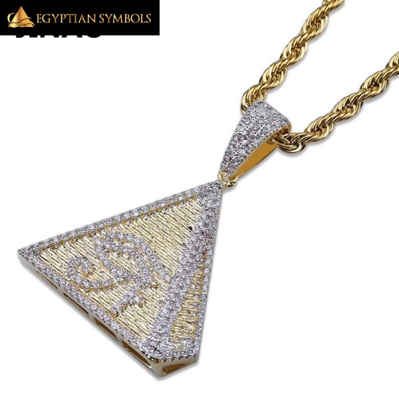 Egyptian Pyramid Necklace (Paved Zircon)