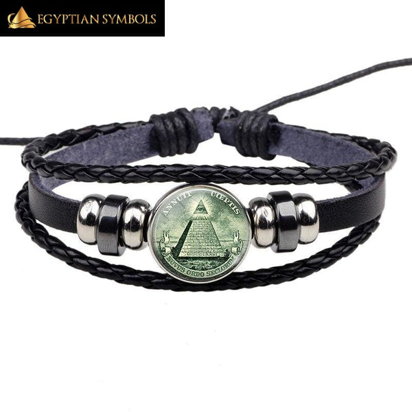 All Seeing Eye - Leather Bracelet