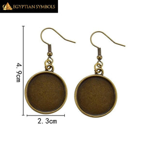 Retro Egyptian Ankh Earrings