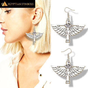 Egyptian Silver Isis Earrings