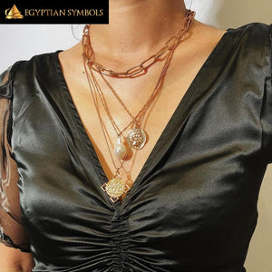 EGYPTIAN NECKLACE - Nefertiti Choker