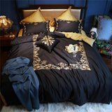 EGYPTIAN BED SET - BLACK GOLD