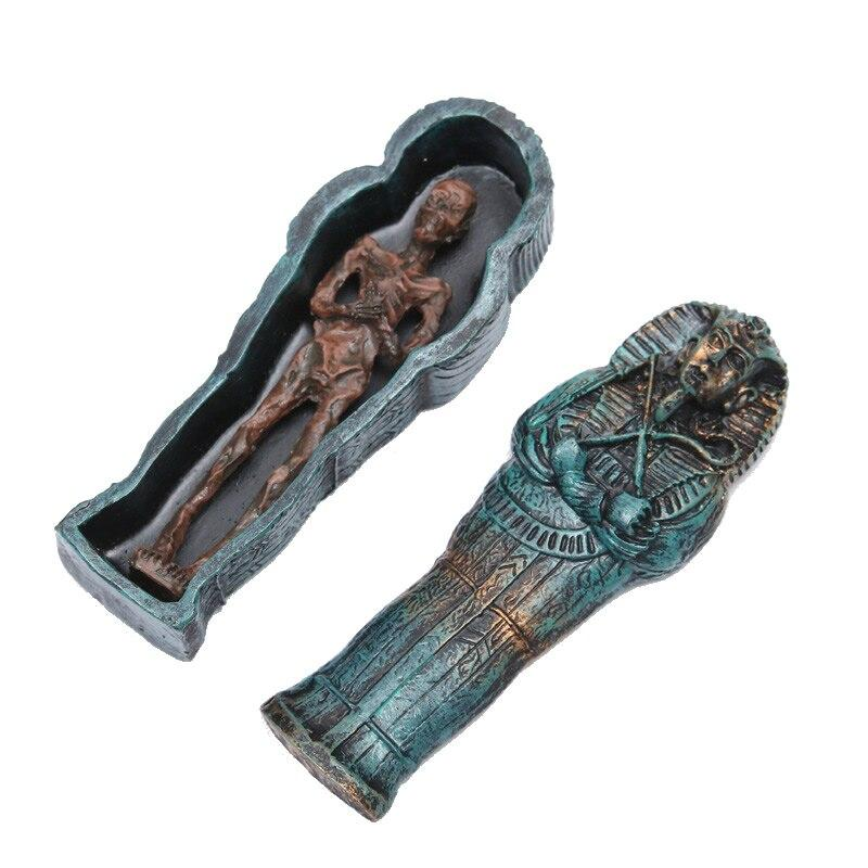 EGYPTIAN FIGURINE - MUMMY IN COFFIN
