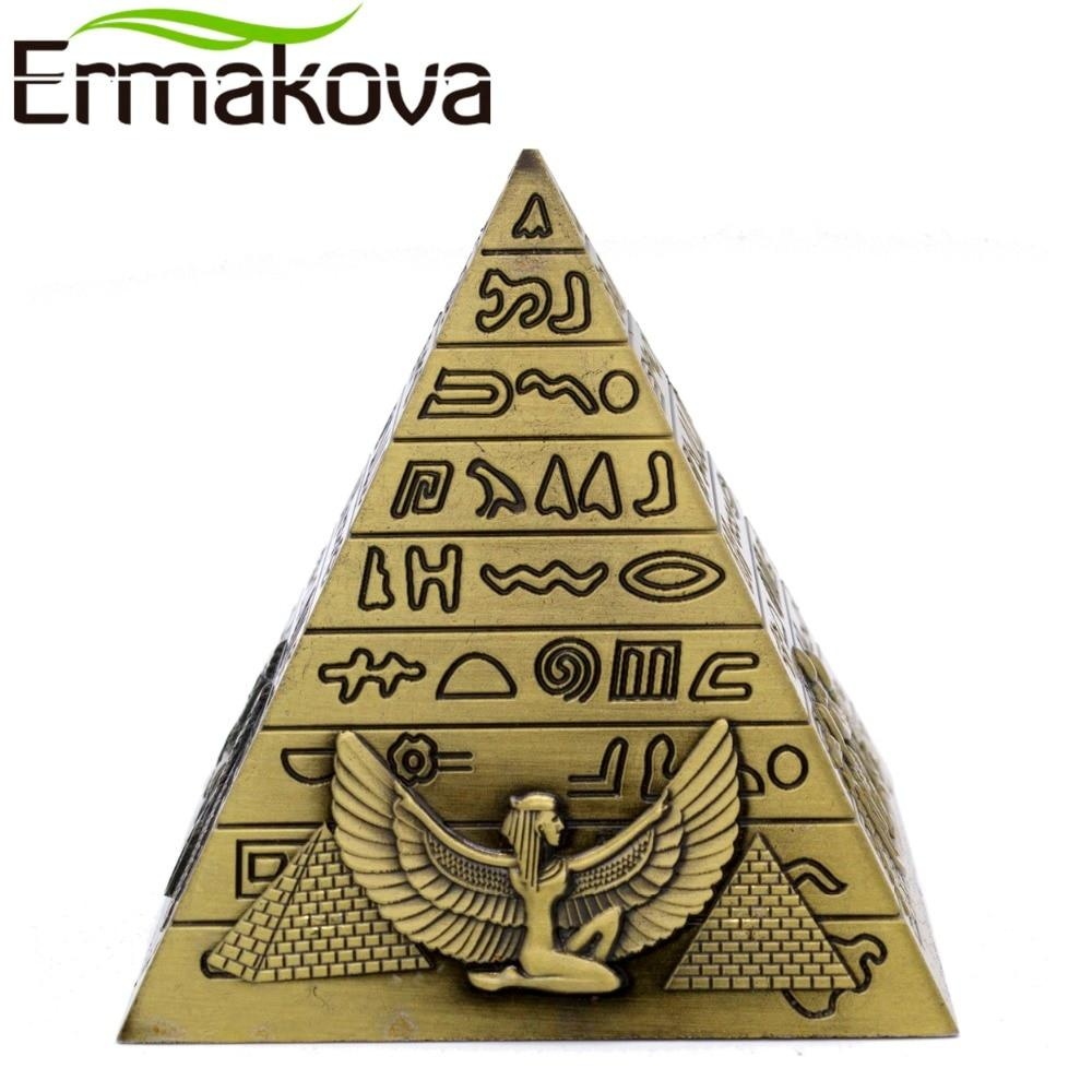 EGYPTIAN FIGURINE - PYRAMID (BRONZE)