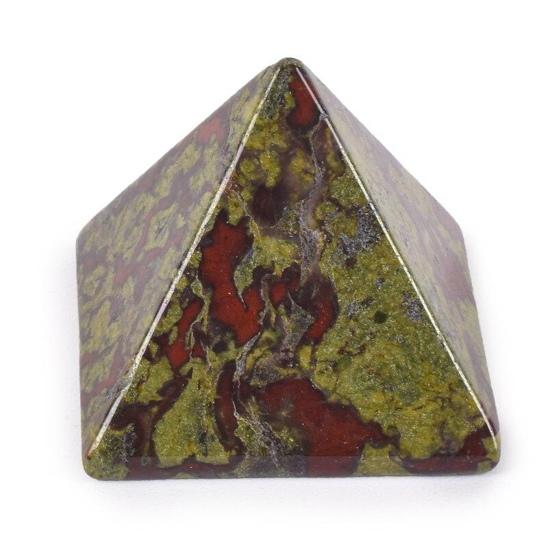 EGYPTIAN FIGURINE - PYRAMID (NATURAL JASPER STONE)