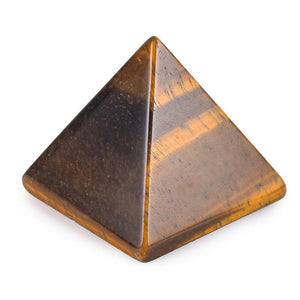 EGYPTIAN FIGURINE - PYRAMID (TIGER EYE STONE)