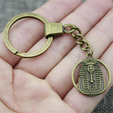 EGYPTIAN KEYCHAIN - DOUBLE PHARAOH SOLID AND UNIQUE