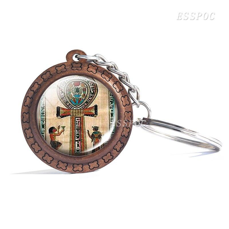 EGYPTIAN KEYCHAIN - WOOD DURABLE AND RESISTANT