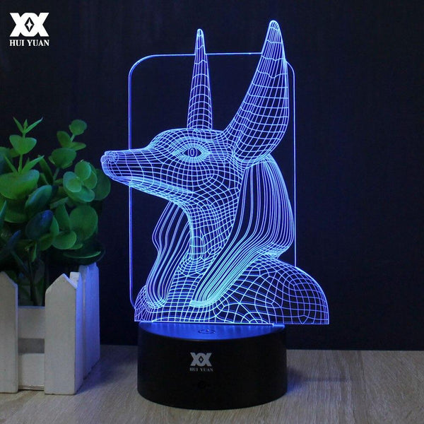 EGYPTIAN LAMP - ANUBIS GOD