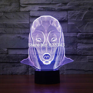 EGYPTIAN LAMP - PHARAOH 3D LEDS