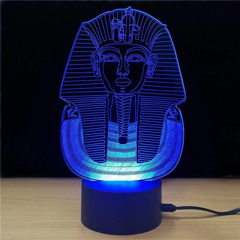 EGYPTIAN LAMP - PHARAOH 3D