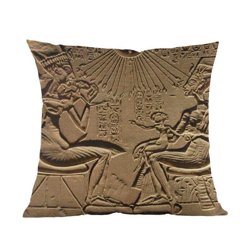EGYPTIAN PILLOW - HIEROGLYPHIC