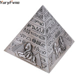 EGYPTIAN PYRAMID FIGURINE - SILVER MINIATURE