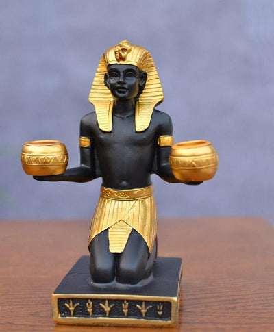 EGYPTIAN STATUE - CANDLE HOLDER