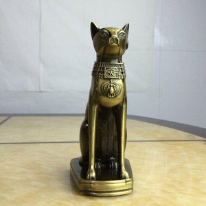 Egyptian Statue - Cat God Copper