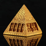 Egyptian Statue - Golden Resin Pyramid