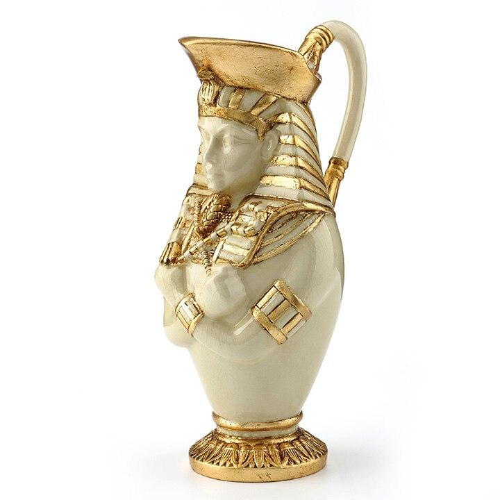 Egyptian Statue - Pharaoh Vase Semi-ceramic