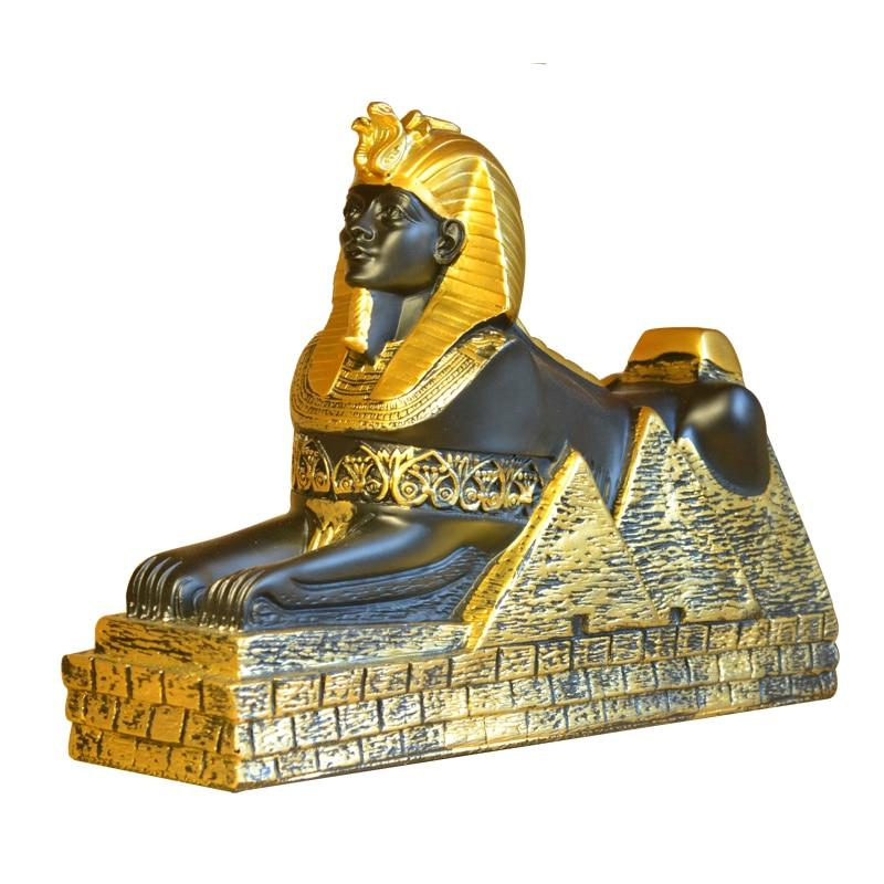 Egyptian Statue - Sphinx Multi-Colored