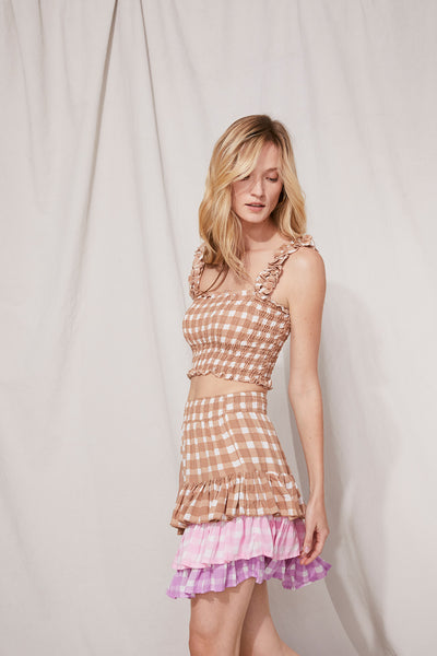 Remi Top Gingham