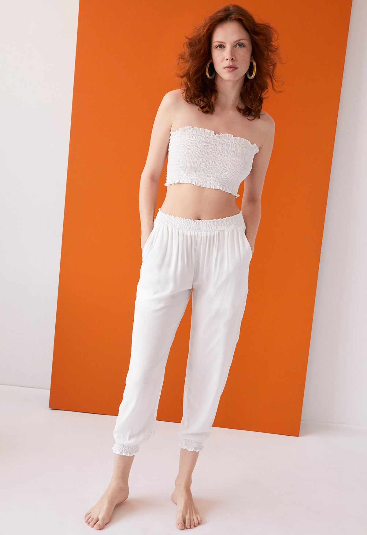 Nora Crop Top Solid