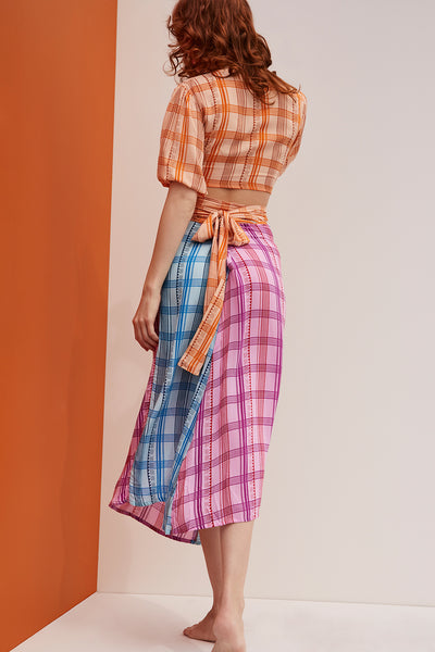 Millie Skirt Sunset Plaid