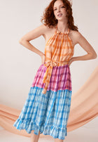 Serena Dress Sunset Plaid