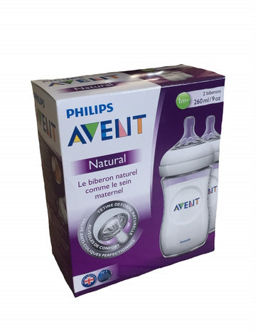 Avent - Natural Biberon Duo 2x260ml (1 mois)