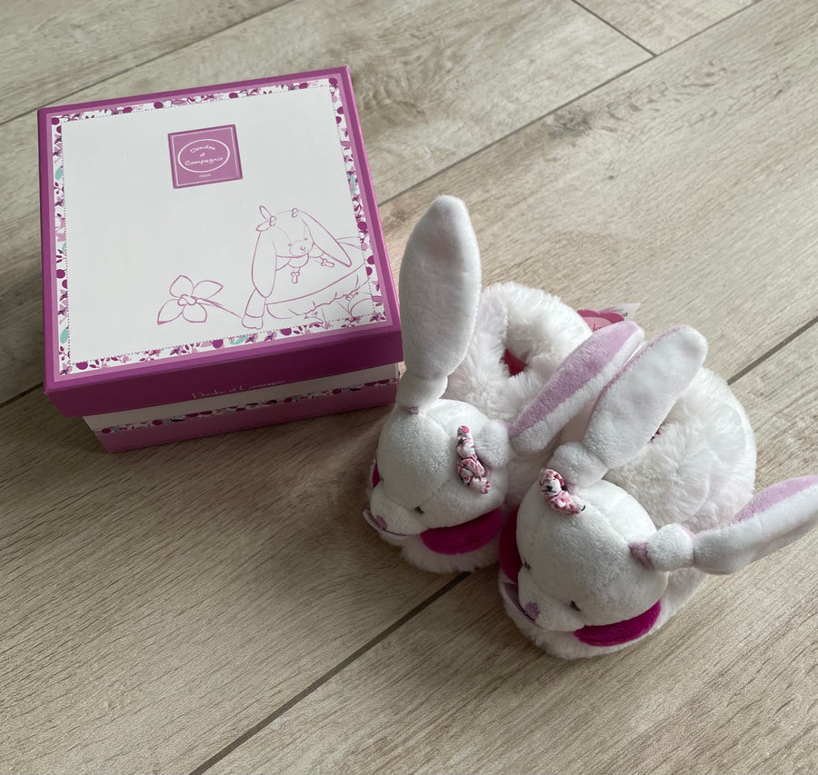 Doudou & Cie - Chaussons Lapin