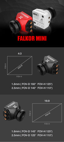 Foxeer Falkor 1200TVL Mini Camera 16:9-4:3 PAL-NTSC Switchable GWDR 1.8mm LENS