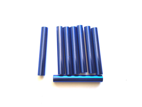 Blue 35 mm aluminum spacers (9) per Package