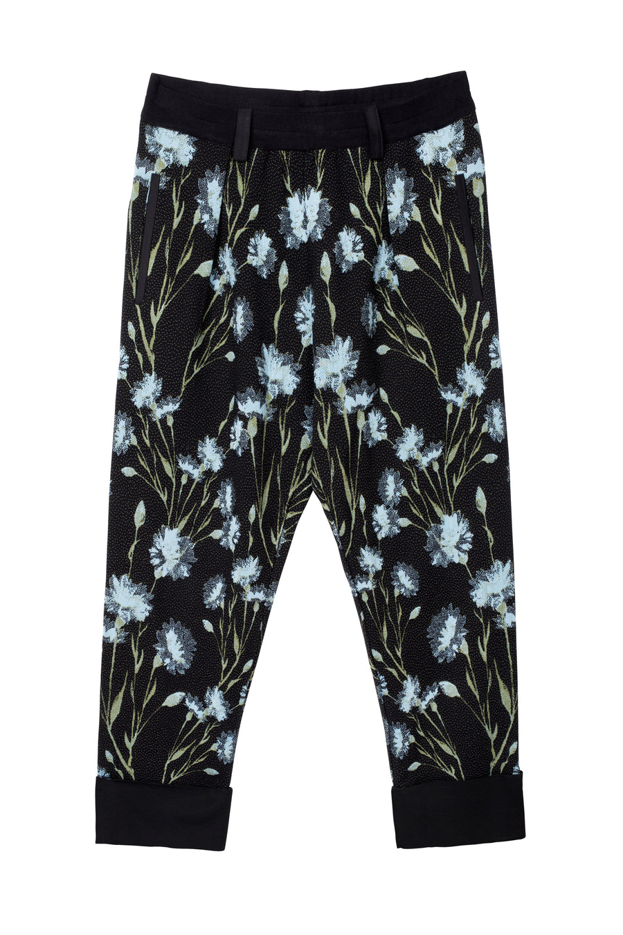 Trousers 'Le Florent' Cornflowers Jacquard