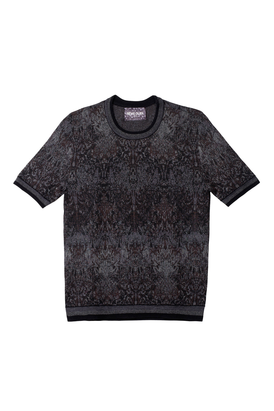 T-shirt Black Tapestry Jacquard