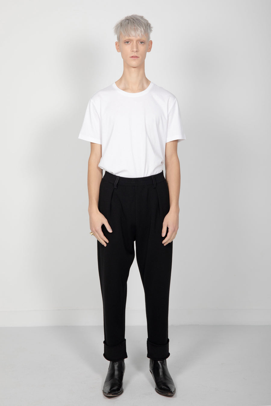 Trousers 'Le Florent' Solid Black