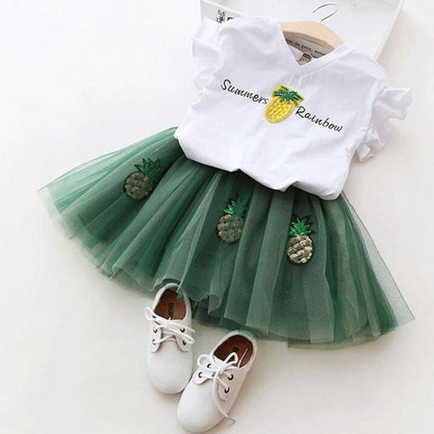 Girl T-Shirt and Skirt Summer Set