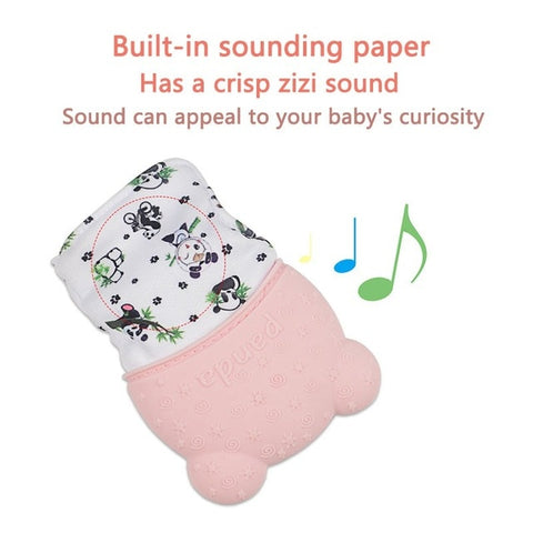 Biteable Mitten for New Baby Teeth