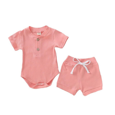Baby Bodysuit and Short Summer Set