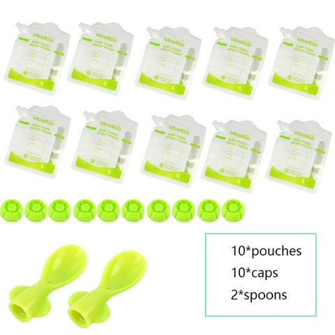 Reusable Baby Food Pouches (5/10 pieces)