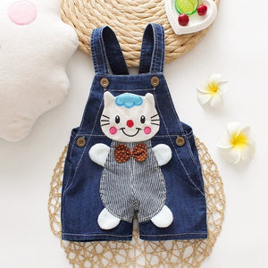 Baby Cartoon Jean Romper