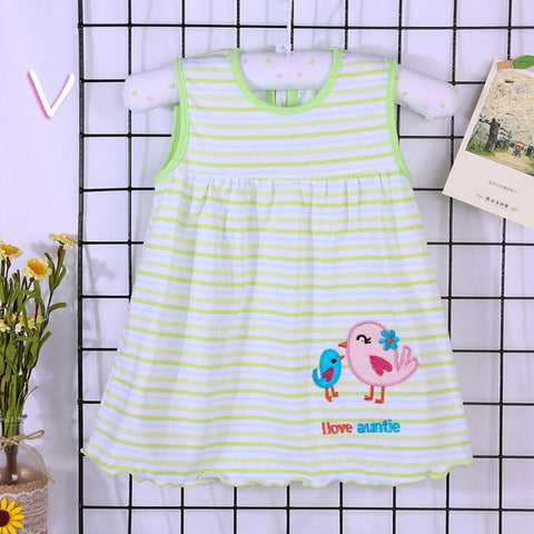 Printed Cotton Casual Dress for Baby Girls