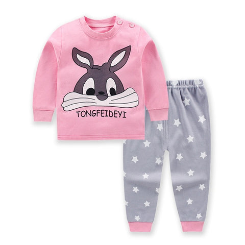 Image of Cartoon Winter Pajama Set for Newborn