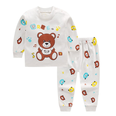 Cartoon Winter Pajama Set for Newborn