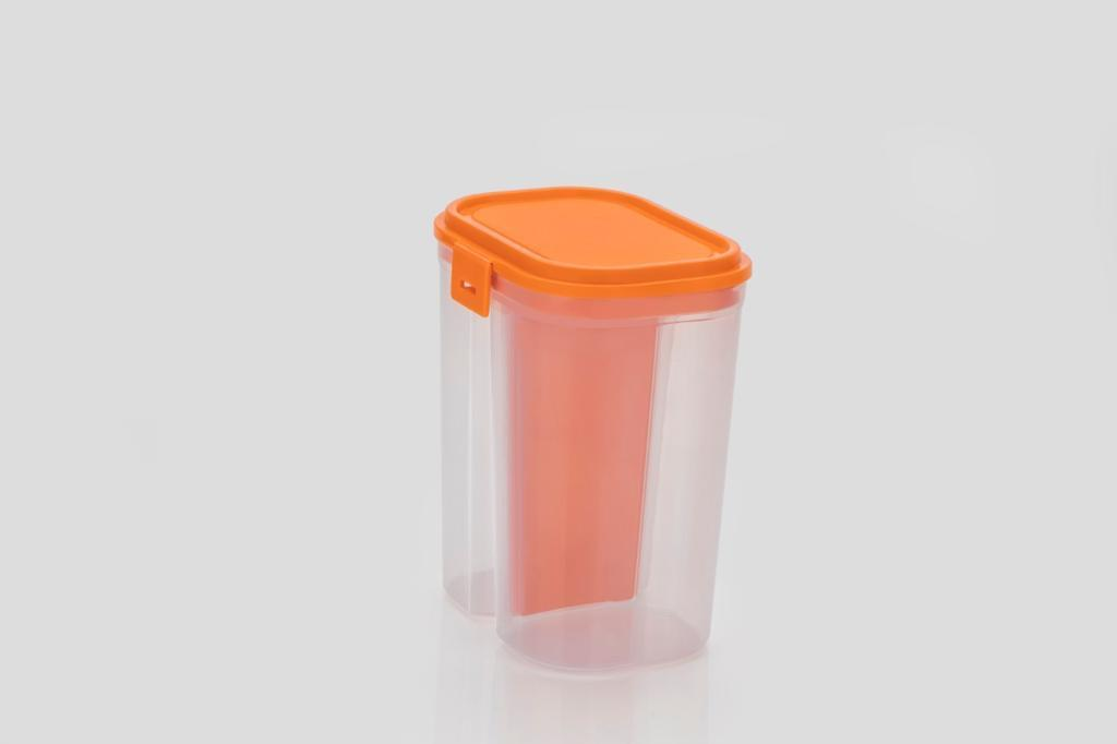 2 Sections Air Tight Storage Container - 2500 ML