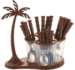 24 Pcs Coconut Cutlery Set
