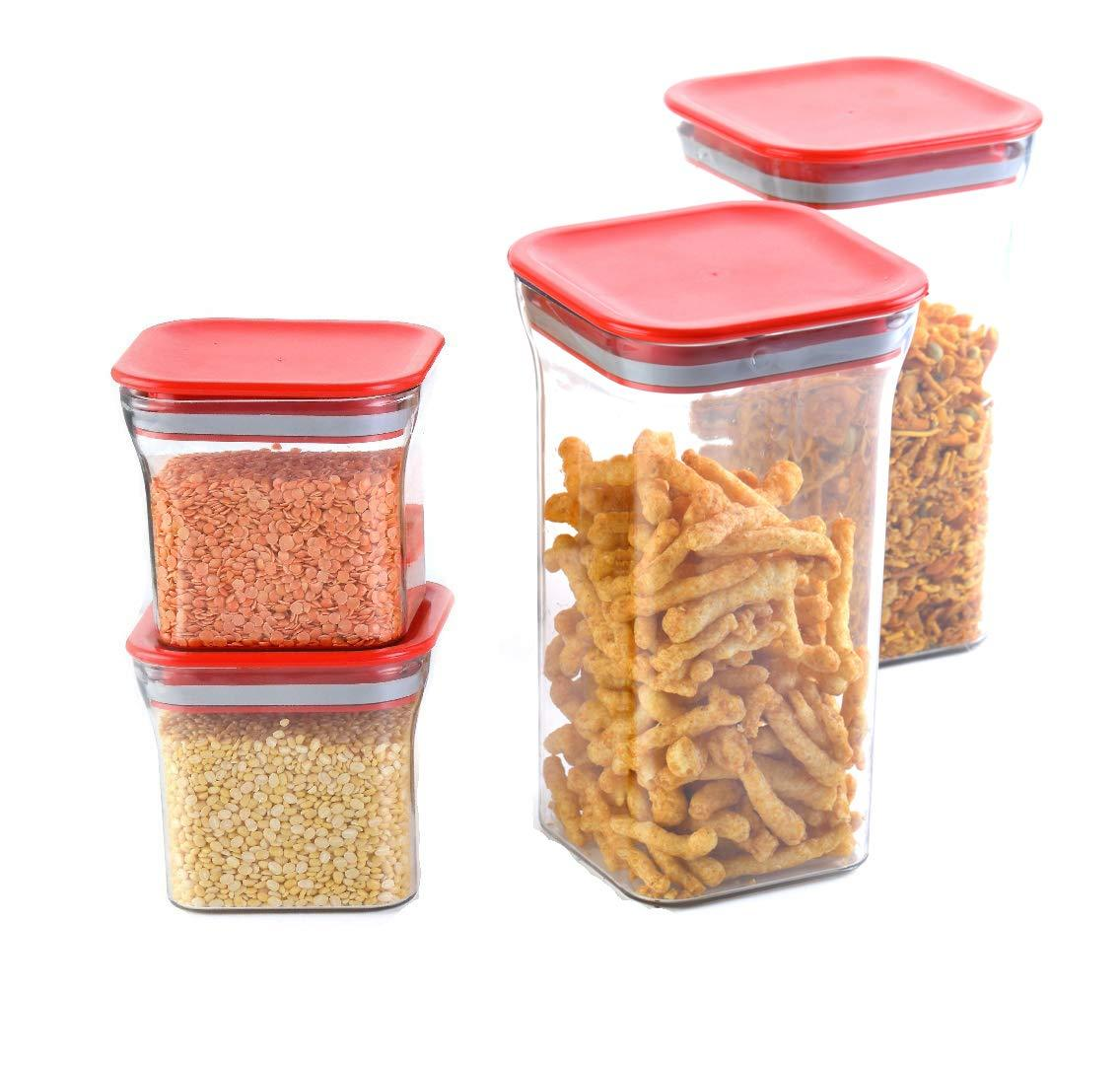Unbreakable Airtight Food Storage Container [Set of 4] Random Color
