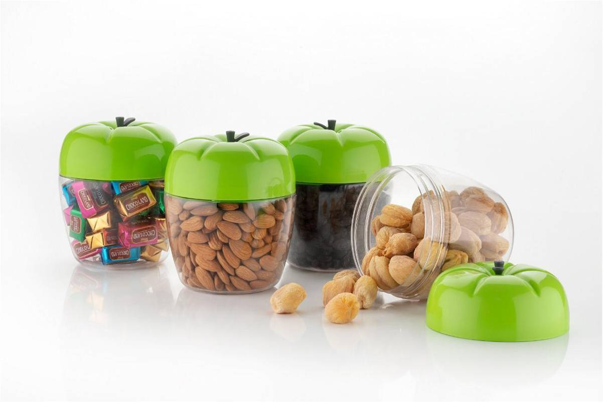 Apple Shape Storage Container [Set of 3] - 800 ml