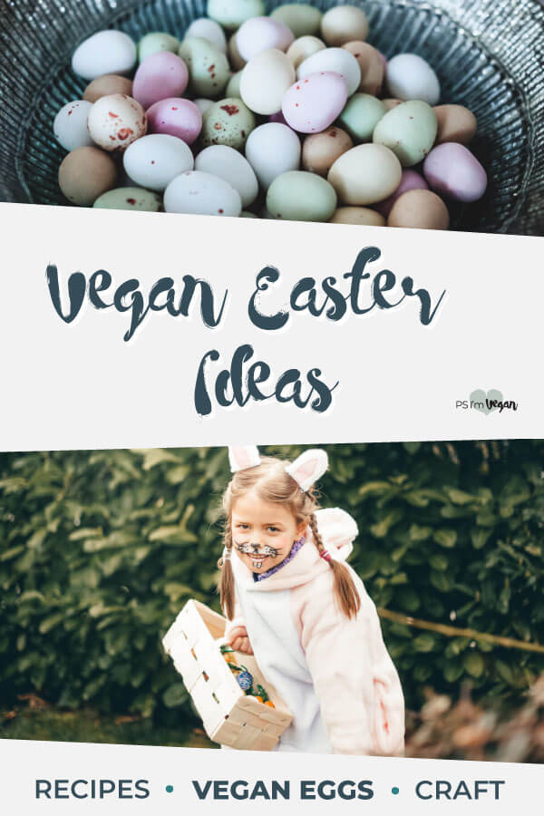 Need Vegan Easter Ideas for the long weekend in Australia? Our huge list has heaps of Vegan Easter Recipes, Vegan Candy, Desserts, Chocolate and Sweets, and Vegan Main Dish, Sides and Entree Recipes. Plus we show you how to make your own vegan Easter basket using vegan Easter Eggs and Bunnies. #vegan #Easter #PSIV #Recipes