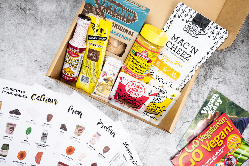 Vegan Starter kit for Veganuary 2021 contents for best vegan hampers in Australia