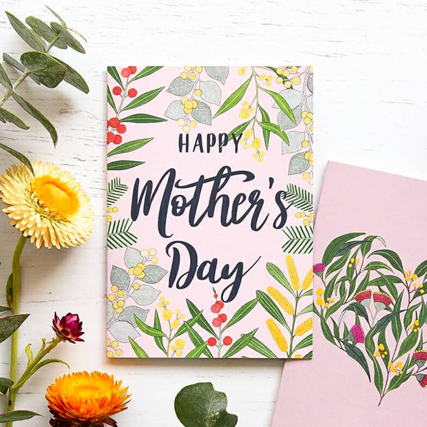 Earth Greetings Negin Maddock Happy Mothers Day Greeting Card Vegan Eco Greeting Card