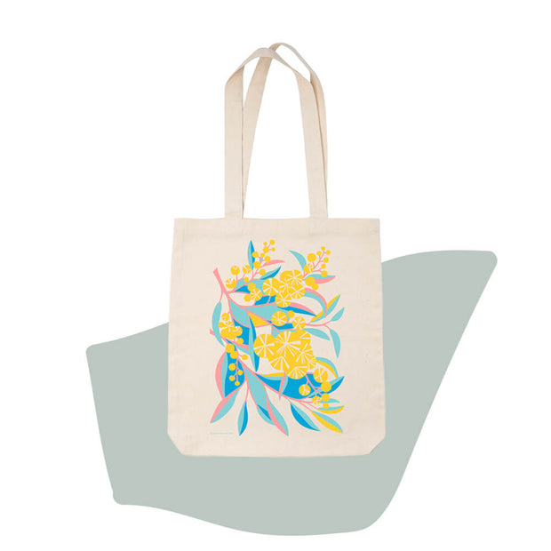 Earth Greetings Claire Ishino Wattle Walk organic cotton tote bags vegan tote bags